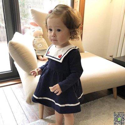 洋裝 0-4歲女童學院風洋裝春秋1女寶寶春裝新款洋氣裙子2小童3嬰幼兒 3款