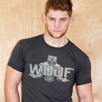 【OTOKO Men's Boutique】ajaxx63: Bear Woof Q熊TEE/黑色