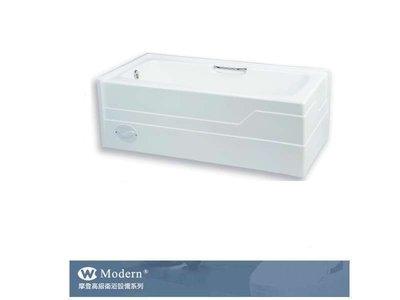 【阿貴不貴屋】 摩登衛浴 M-7250 雙牆浴缸 FRP浴缸 附扶手 雙面 (左)右排水 152*70*50cm