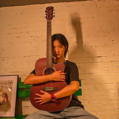 Guitarist單板民謠吉他男女生40 41寸初學者網紅同款新手入門樂器