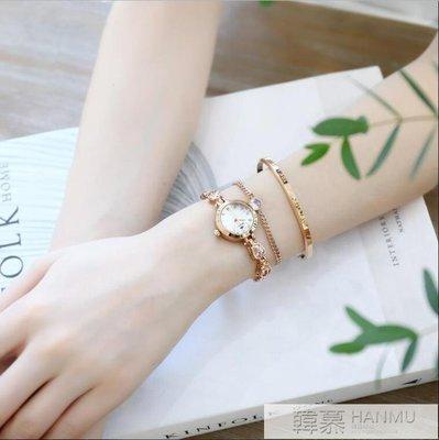 女士手錶冷淡風手錶女學生韓版簡約氣質女款時尚潮流防水休閒大氣  IGO