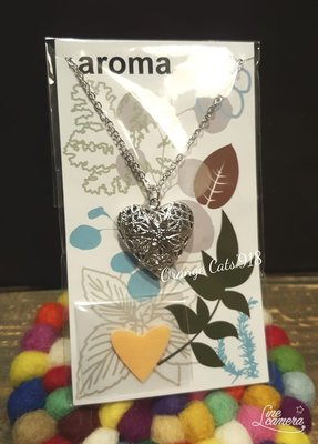 日本 氣質 香芬精油項鍊 愛心款  生日禮物 婚禮小物 情人節禮物 男女飾品