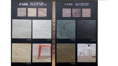 @安全科技研究所@ 精緻 塑膠地磚.地板 正方 2mm厚 .耐磨度:0.2mm (20條)