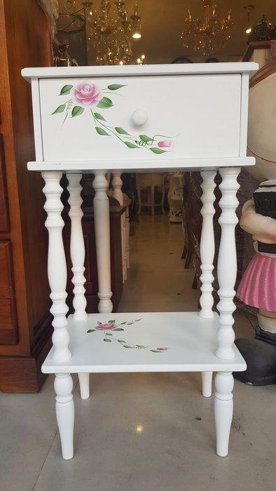 木質彩繪玫瑰花電話架花架