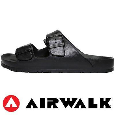 鞋大王AIR WALK A755220120 黑色 輕量可調運動拖鞋#防滑#防水#399#免運費#601AW