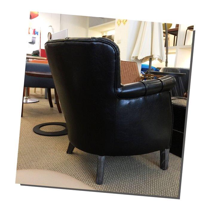 [ 椅子王 ] ---- LOFT復古格雷斯 鉚釘沙發  《黑色限定 》