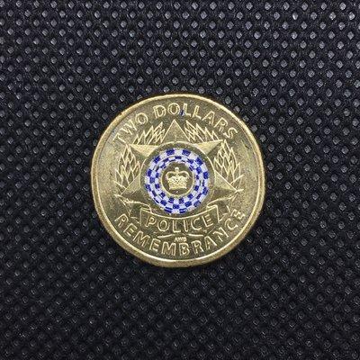 澳洲紀念幣 2019年 國家警察 30週年紀念日 $2 單枚 / police 2元 彩色硬幣 錢幣 特殊幣 流通幣 澳大利亞
