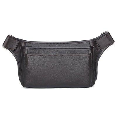 腰包真皮肩背包-純色牛皮休閒實用男包包2色73vx12[獨家進口][米蘭精品]