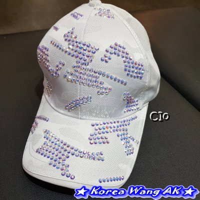 Korea Wang AK ~(現貨)正韓 韓國空運 東大門 實拍 超閃施華洛水鑽棒球帽 單頂590元【DA59】