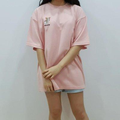 正韓製 welsh科基犬T恤-粉色(男女皆可穿)