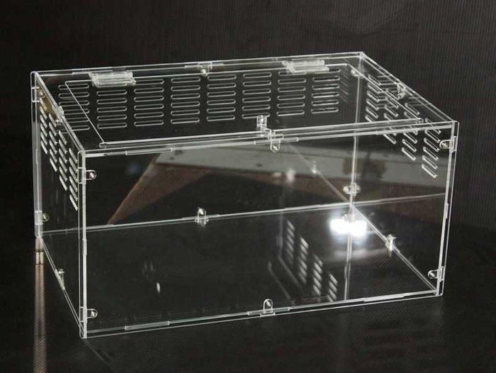 4mm長40*寬25*高20CM (固定式)、壓克力、兩棲、爬蟲、寵物飼養箱