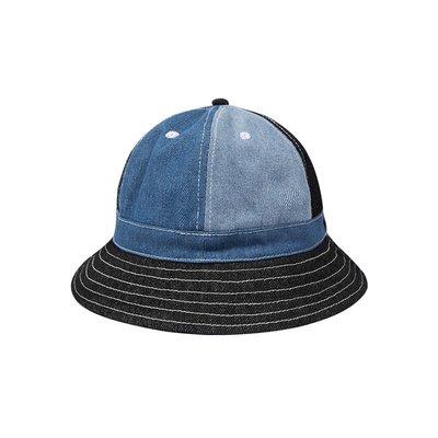 【 PUNX 】FOX   PUNX 21SS HAT 古著丹寧牛仔撞色拼接圓頂漁夫帽