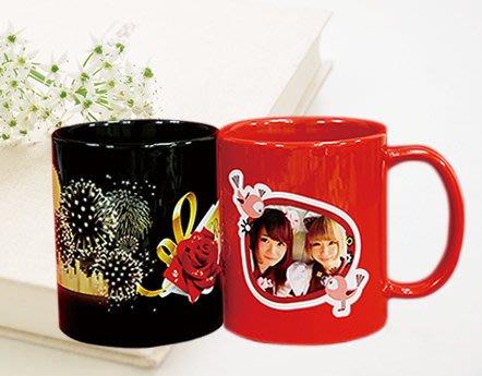 新款 有色馬克杯 照片馬克杯 客製化 杯子 個性化 婚禮小物 相片  陶瓷 印刷 母親節 情人節 聖誕節 照片【轉印王】
