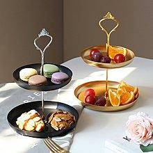 果盤北歐輕奢風果盤多層家用個性創意客廳茶幾零食水果托盤裝飾品擺件好好先生