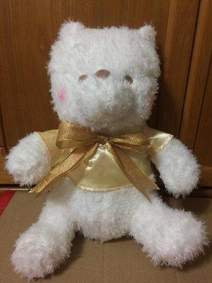 【宅人幫】現貨特賣~SEGA景品 臉紅小熊維尼 雪白金黃緞帶系列 36cm