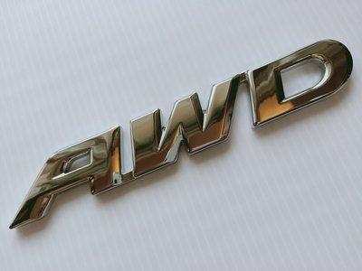 大號 AWD 4WD 4X4 四輪傳動 車標 標誌 銘牌 車尾標 板金 烤漆 板材 HONDA 本田 CRV S