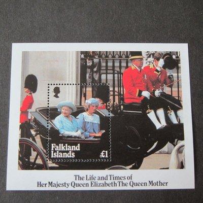 【雲品二】福克蘭群島Falkland Islands 1985 Queen's mother Sc 424 set MNH  庫號#B301 47192