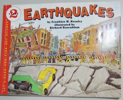 英文童書繪讀本 Earthquakes 《Let's read & find out science 》【書況佳】
