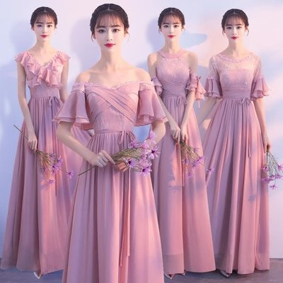 伴娘服長款2018新款韓版修身顯瘦宴會晚禮服女 GY1467