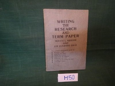 【愛悅二手書坊 H22-56】WRITING THE RESEARCH AND TERM PAPER