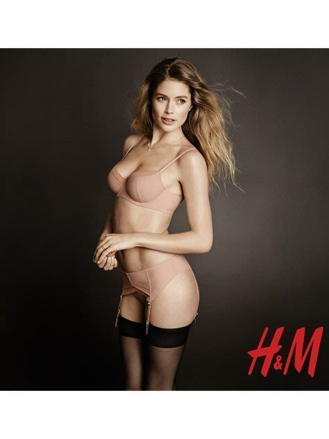 75B+L*全店任3件享免郵✿Sexy girl✿ 歐美品牌 H*M低調奢華 薄綿內衣 金屬扣吊襪帶 丁字褲 【膚】