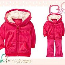 【B& G童裝】正品美國進口OLD NAVY 內軟刷毛粉紅色長袖連帽外套6-12mos