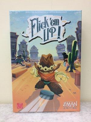 【桌遊世界】可開收據!正版桌遊 荒野大彈客 Flick 'em Up!