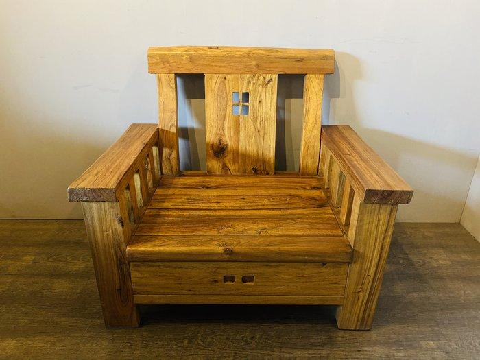 ㊣大匠之風㊣全新仿古**樟木單人靠背扶手椅/泡茶椅/書桌椅/辦公椅*另有實木原木紅木明式傢俱*