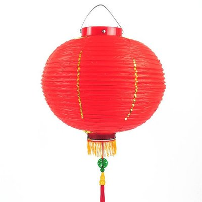 12吋大紅燈籠 (福字吊飾)PVC塑膠燈籠‧年節裝飾.廟會宮燈.可開版印字.(高品質)