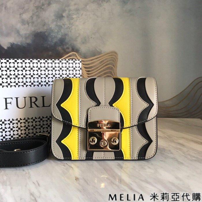 Melia 米莉亞代購 商城特價 數量有限 每日更新 19ss FURLA 芙拉 經典豬鼻包 單肩斜背包 灰色拚黃黑色