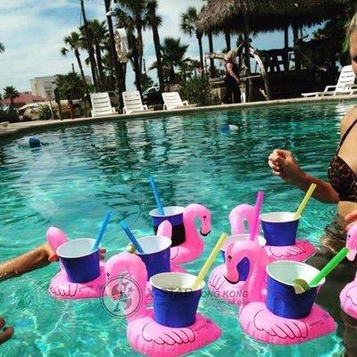 1633211  火烈鳥 杯墊 可樂杯 墊手 機飲料杯座  沙灘 水泡 浮床