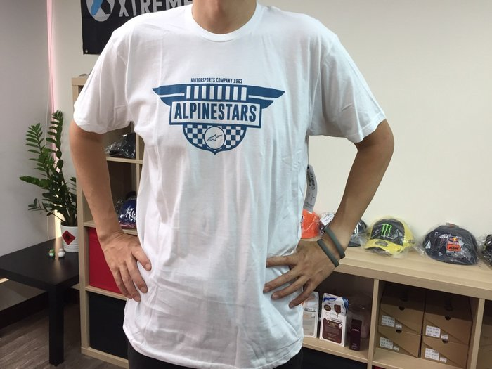 [阿菊潮流工作室] Alpinestars White Other T-Shirt L號 [免運費]
