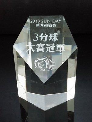 水晶獎牌、獎座、獎盃噴砂雕刻廠家直營 衝評價 歡迎批發CD-309