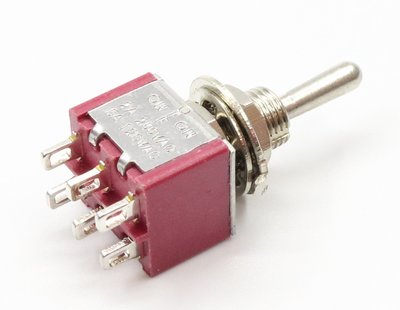 【老羊樂器店】電吉他 迷你 on off on 三段切換開關 mini Toggle Switch 6 pin