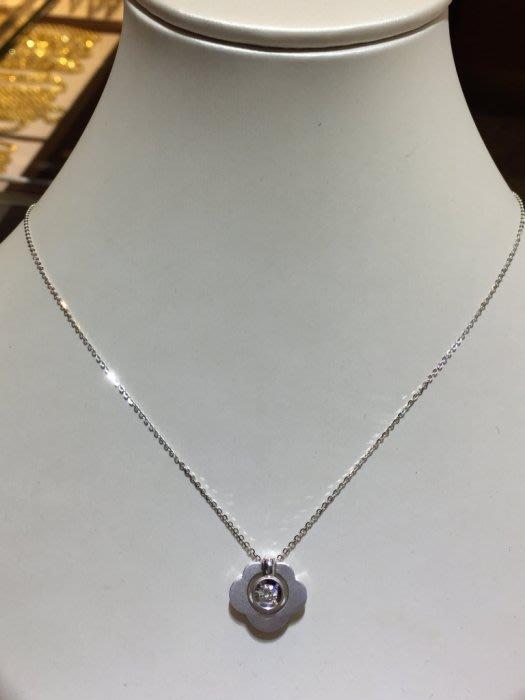 13分天然鑽石項鍊,可愛雲朵設計款式,不撞款,超值優惠商品6580,超大器厚金墜台
