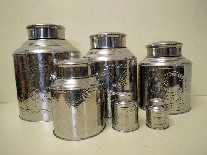 不鏽鋼茶葉罐 高級不鏽鋼茶葉罐3斤裝ㄧ入