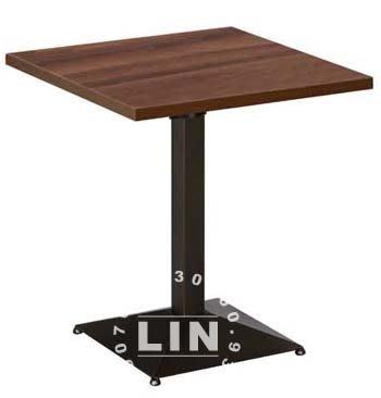 【品特優家具倉儲】R257-17-1餐桌洽談桌烤黑方盤S方桌