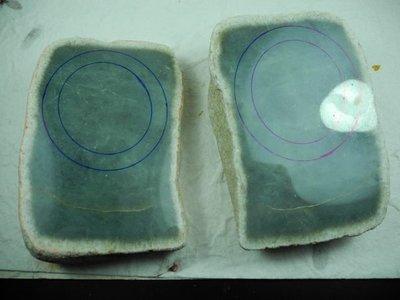 【昕品舘】摩西沙冰種湖水芋紫~水頭極佳『手鐲明料賭石*2片』玉鐲 玉墜 批發專賣
