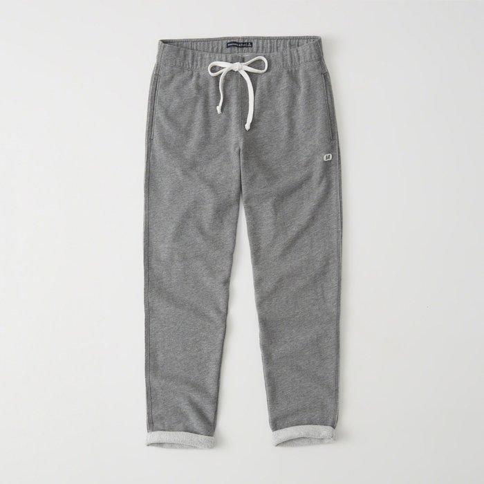 【Abercrombie&Fitch】【A&F】AF女款棉長褲左小標反折灰 F07181220-14