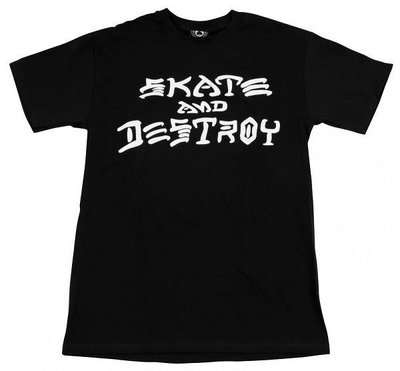 { POISON } THRASHER SKATE AND DESTROY LOGO TEE 經典滑板與破壞短TEE