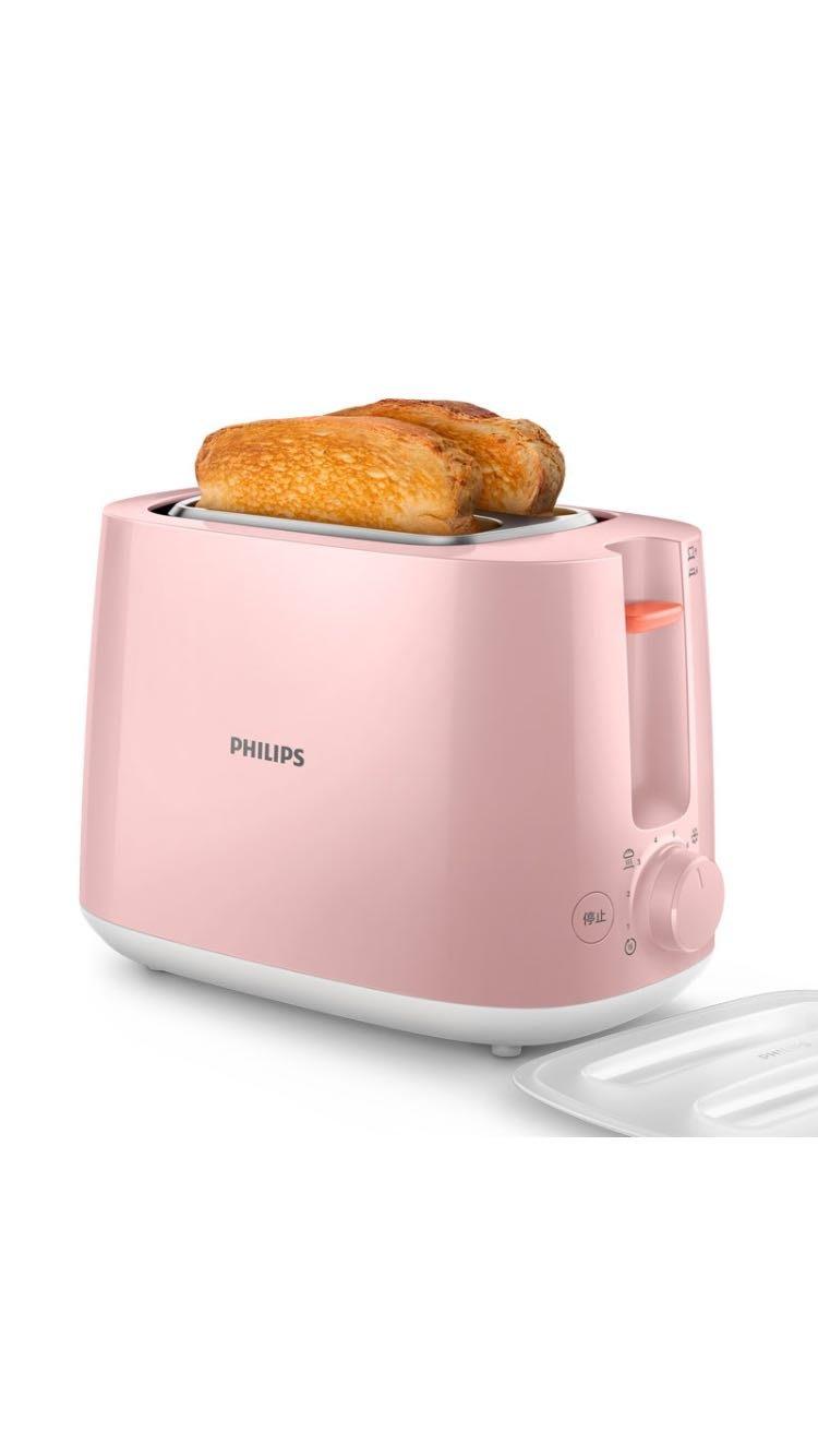 PHILIPS 飛利浦 電子式智慧型烤麵包機/瑰蜜粉 HD2584/52
