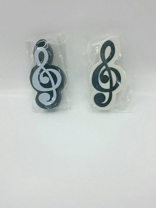 ╰☆美弦樂器☆╯高音譜造型橡皮擦組(一組2個)