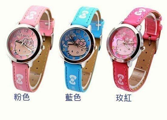 ✿荳荳小舖✿Hello Kitty浪漫凱蒂貓 ♡ 可愛學生女童手錶 兒童手表 (粉色/玫紅+現貨)