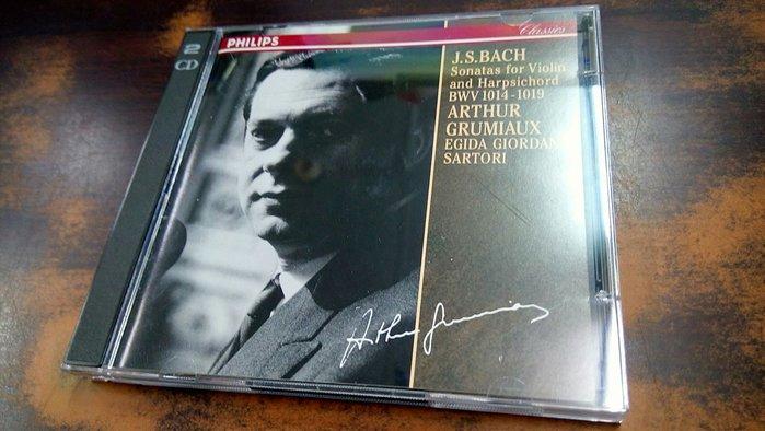 好音悅 Grumiaux 葛羅米歐 Bach 巴赫 巴哈 小提琴 大鍵琴 奏鳴曲 2CD Philips 日版