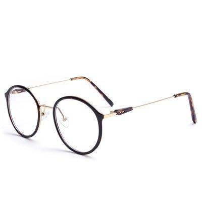 眼鏡 框 圓框 鏡架-時尚文藝氣質百搭男女平光眼鏡5色73oe7[獨家進口][米蘭精品]