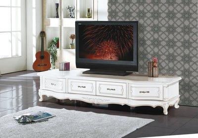 [歐瑞家具]YA373-4莫莉白色7尺電視櫃/系統家具/沙發/床墊/高低櫃/床組/高櫃/1元起/高品質/最低價