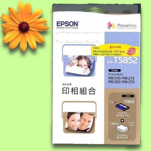 5Cgo【權宇】EPSON PM270/PM215用 T585250 原廠(含墨水+150張紙)組合包 單盒組  含稅