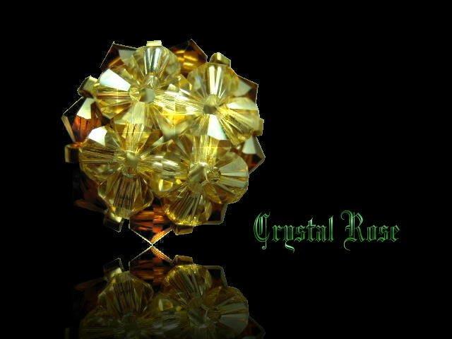 ※水晶玫瑰※ SWAROVSKI 水晶戒指~茶色+咖啡包邊(HAND18)