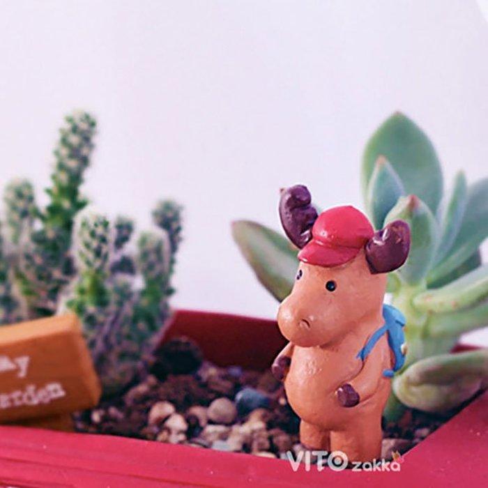 麋鹿多肉花插☆ VITO zakka ☆多肉盆栽擺飾/苔癬微景觀/園藝資材/布景/裝飾/擺件/小物