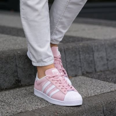 免運【日貨代購屋】日本代購 ADIDAS ORIGINALS SUPERSTAR W S76155 紫粉色 女鞋 可愛